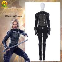 Black Widow Natasha Romanoff Cosplay Costume Avengers 3 Infinity War Outfit Halloween Accessories Carnival Boots Custom Made