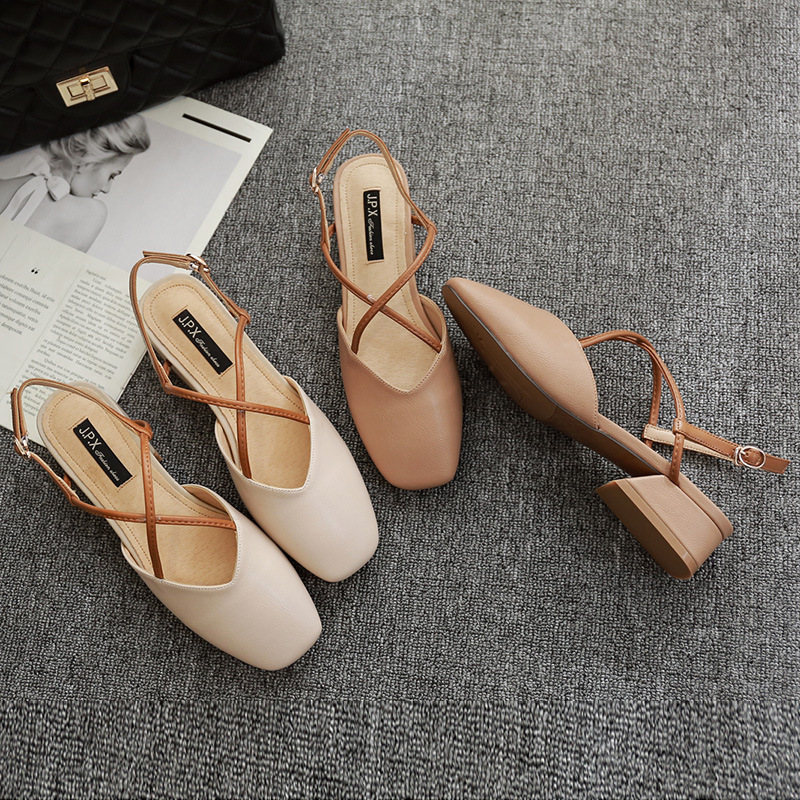 2019 Back Coarse Shoes Crossing Sandals Word Fairy Shoe2019 Back Coarse Shoes Crossing Sandals Word Fairy Shoe