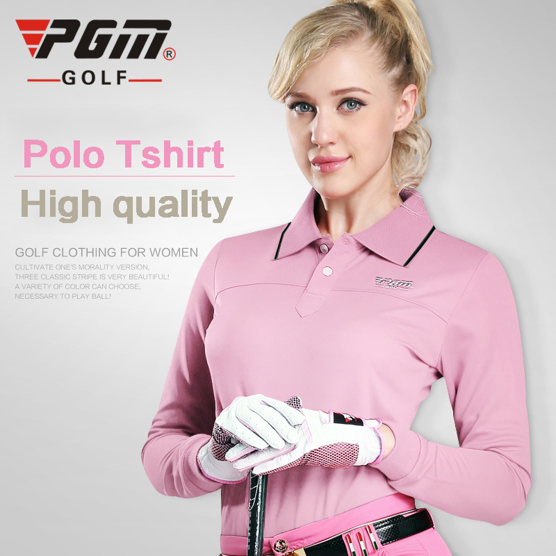 pgm authentic womens golf shirts dry quick polo t shirts pour femmes golf full sleeve t shirt. Black Bedroom Furniture Sets. Home Design Ideas