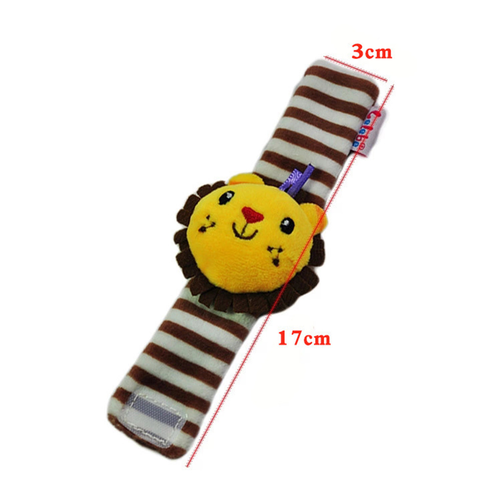 Image 5 - Infant Baby Rattles Toys Animal Pattern Strap Rattle Baby Foot Socks Wrist Rattles Cartoon Educational Toy Gift For Kids-in Baby Rattles & Mobiles from Toys & Hobbies
