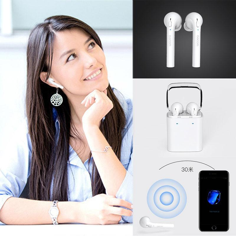 Cordless Headphone Earphone Wireless Earpiece Stereo handsfree Bluetooth Ear phone Headset For Apple for AirPods For iphone 7