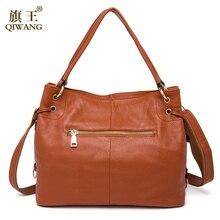 QIWANG 100% Real Genuine Leather OL Style Women Handbag Tote Bag Ladies Shoulder Bags Wholesale price 2016 New HOBO Purse