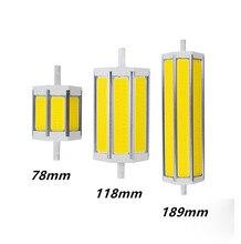 R7S COB led bulb R7S led lights 78mm118mm 189mm 10W 15W 20W light lighting lamp AC85-265V replace halogen floodlight