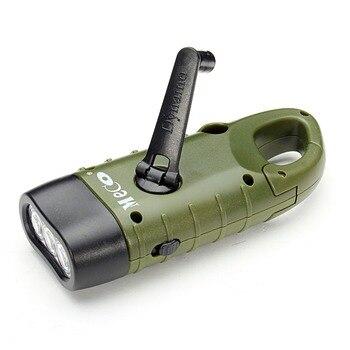 Hand Crank Dynamo Solar Flashlight