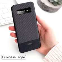 MOFi Suit Fabric with Silicone Edge Case for Samsung Galaxy S10, S10Plus