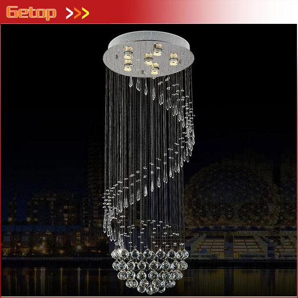 New Luxury Modern Crystal Pendant Light For High-rise Stairway Fashion Creative Luxury Lamps Home lighting Free Shipping 2016 new crystal light with led chip modern fashion luxury lamps for bar coffee shop the corridor home 1or3 light free shipping