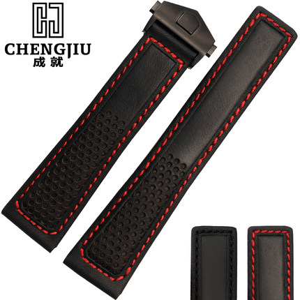 Men's Morocco Calfskin Leather Strap For Tag/ Heuer For Carrera Deployant Clasp Watch Band Straps Bracelet 22 mm Correa Reloj цена и фото