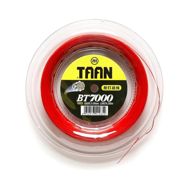 1 Reel 200m TAAN BT7000 Force badminton strings 0.68mm durable Badminton strings high flexibility and good feeling