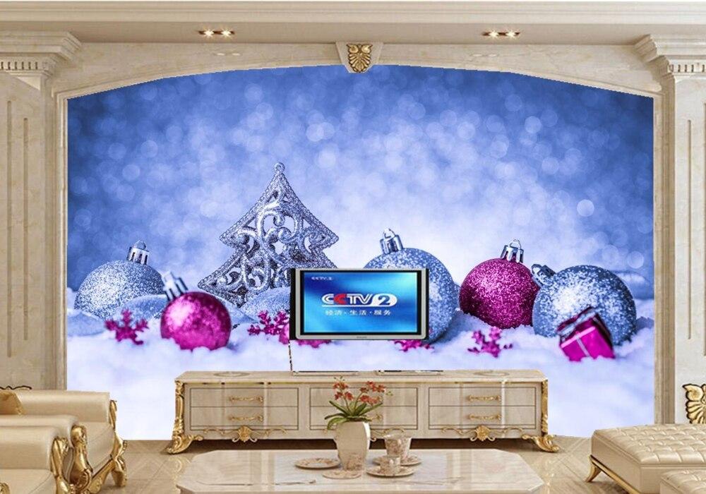 Benutzerdefinierte mural, ferien weihnachten schnee balls baum ...