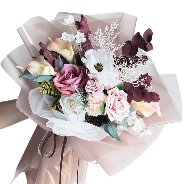 Flower Wrapping Glittering Paper Set 10 Pcs