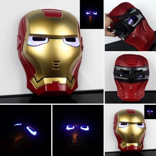 113921 Lighting Iron Man Masks, Thick Plastic & LED at eye, 17x21.5CM, Wholesales & Free Shipping