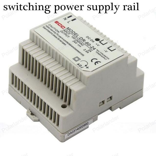 Conductor Del LED Fuente De Alimentación Conmutada rail AC/DC 24 V 2.5A de salida dual Transformador de Tensión para la Exhibición Led Strip cartelera