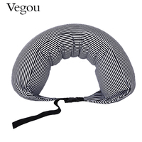 Vegou Brand U Shaped Foam Travel Pillow Particles Neck Health Care Flight Car Nap Sleeping Pillow Waist Support Adjustable
