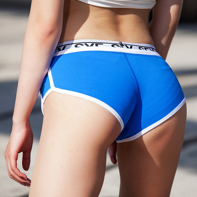 Sexy Blue Pants Women Tight Shorts Yoga Pants Sport -1145