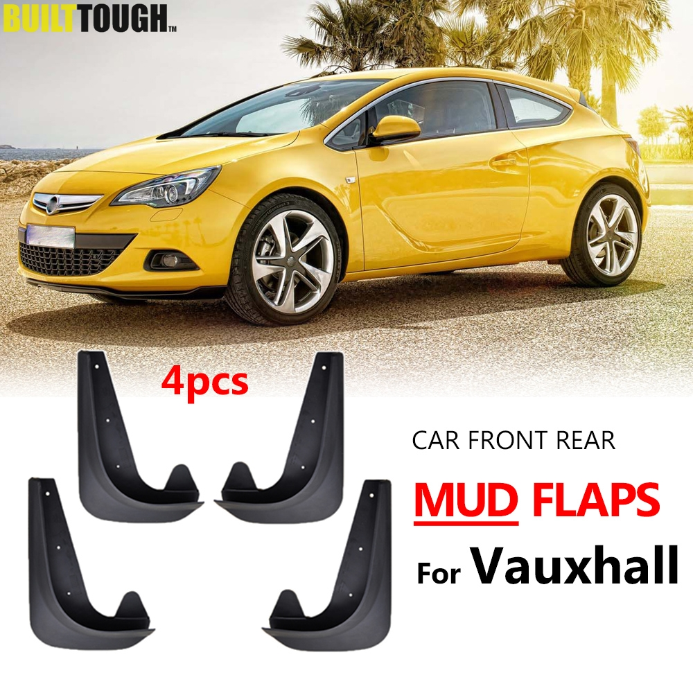 Rubber Moulded set of 4 Rear and Front Mud Flaps for Vauxhall Corsa