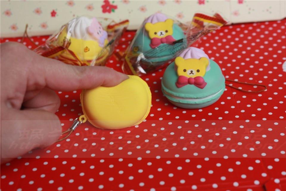 5 cm original kawaii squishy Rilakkuma Macaron kage queeze legetøj - Mobiltelefon tilbehør og reparation dele - Foto 4