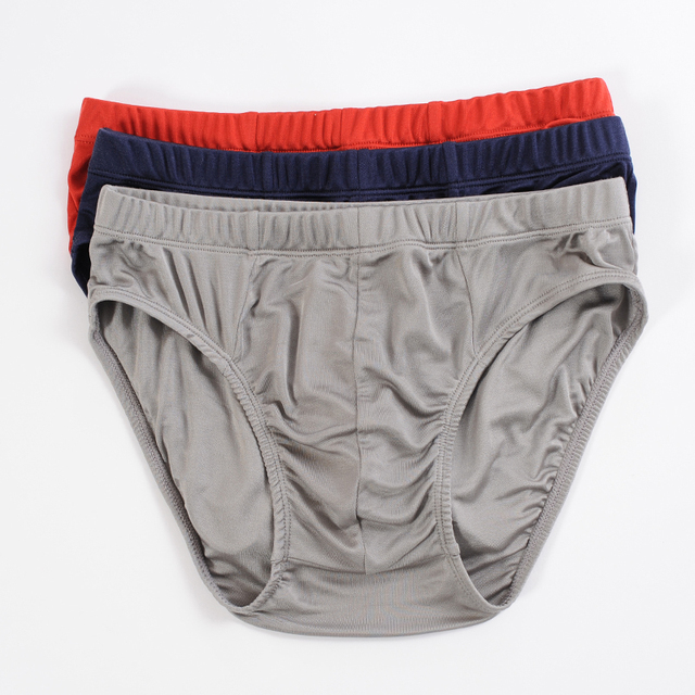 New arrival male u three-dimensional cut silk panties double faced mulberry silk knitted mid waist briefs