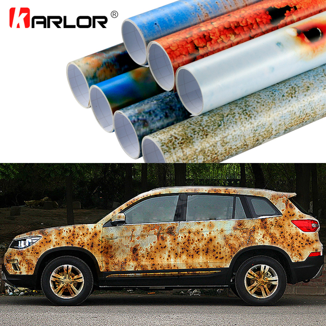 50x200cm Iron Rust Vinyl Wrap Film Wrapping Colored Car Full Body Stickers Bomb Automobiles