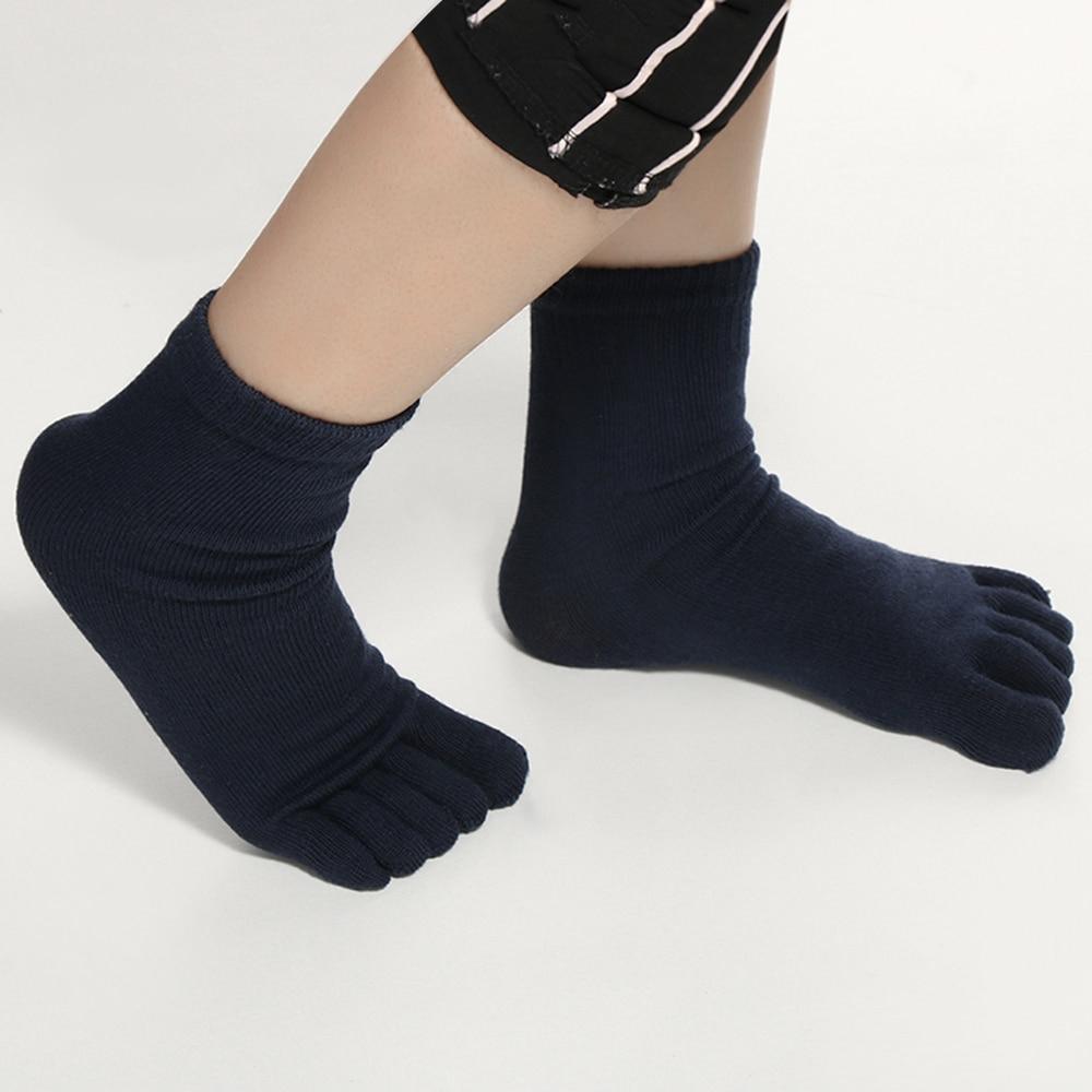 Underwear & Sleepwears 1 Pair New Autumn Winter Warm Style Unisx Men Women Five Finger Pure Cotton Toe Sock 6 Colors Special Buy