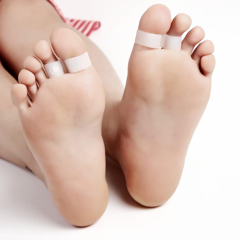 1 Paar Magnetic Silicon Diät Abnehmen Fuß Doppel Kappe Ring Gewicht Verlust Diät Massage Fitness Abnehmen Gesundheit Pflege Dropshipping