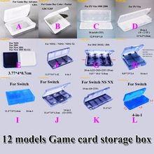1pcs Transparent Game Cartridge Cases PP Plastic Game Cards TF card Cartridge Cover Case Dustproof for New 3DS XL LL Switch(China)