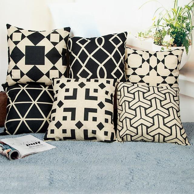 aliexpress com 45x45cm nordic black office sofa cushion