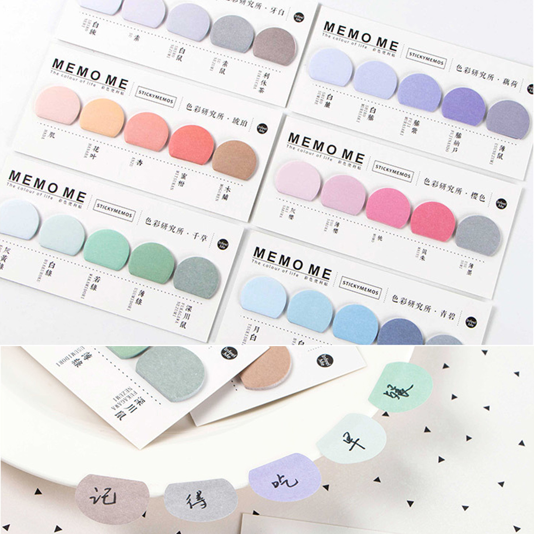 Book Sticker Bookmarks Memo Pad  Notepaper  Notes Page Flags Self-stick Tab Bookmark Marker Pad Office Supplies