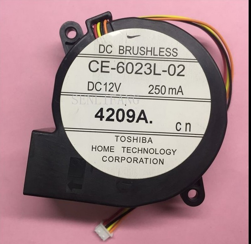 Original For EPSON Projector EB-CU610X Centrifugal Blower Fan CE-6023L-02 DC12V 250mA 4Lines