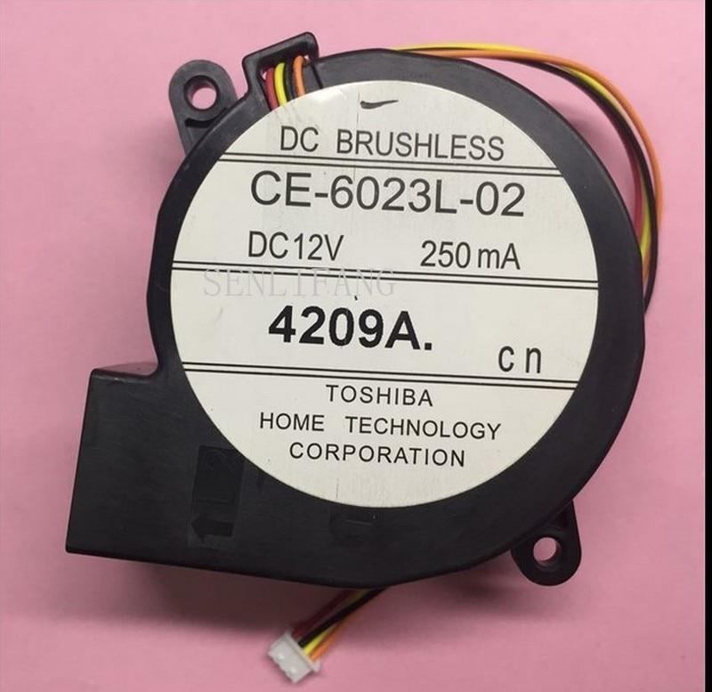 Original For EPSON Projector EB-CU610X Centrifugal Blower Fan CE-6023L-02 DC12V 250mA 4Lines
