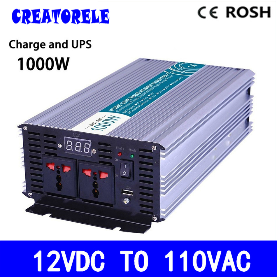 P1000-121-C UPS power iverter 12v to 110v 1000w pure sine wave soIar iverter voItage converter with charger and UPS p800 481 c pure sine wave 800w soiar iverter off grid ied dispiay iverter dc48v to 110vac with charge and ups