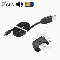 GPS localizador de coche vehículo rastreador de actividad los dispositivos de alarma de rastreador de cargador de Cable USB escucha sonido de Audio GSM GPRS para iPhone Android
