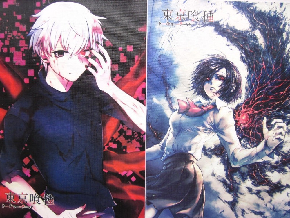 8PCS Japan Anime Tokyo Ghoul Kaneki Ken Cosplay A3 Size COOL Posters Print Set C In Wall Stickers From Home Garden On Aliexpress