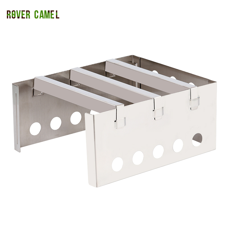 Rover Camel Outdoor Wood Stove folded Backpacking Portable Cooking Stainless Steel mini travel stove