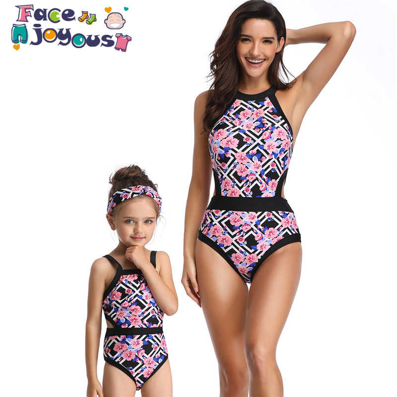 aded66719c Detail Feedback Questions about 2019 Mom Girls Swimming Clothing Set Family  Match Swimwear Mother And Daughter Lady Kid Mum And Me Bikini Swimsuit  Brachwear ...