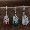 Тайский серебряный оптовая S925 Стерлингового Серебра Агат опал Нефрита Серьги античном стиле падение и др. атмосферного женские модели