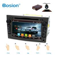 2Din Android 8.1 Radio Car DVD Multimedia Player For Opel Vectra Corsa D Astra H Steering Wheel Audio Video WIFI free Map+camera
