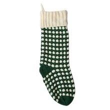 1 шт. рождественские носки в горошек вязаные Чулочные изделия подарок елка орнамент чулок висячие кольца конфеты носки для вечеринок прибытие