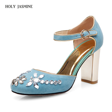 New beading flower crystal gladiator thick super high-heel round toe limit velvet strange style women high quality brand shoes colorful crystal party weeding women shoes gladiator new fashion cheap price hot selling black strange style bird cage heel