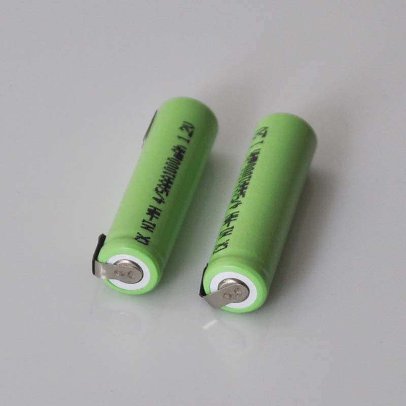 2-5PCS 1.2V 4/5AAA Rechargeable battery 1000mah 4/5 <font><b>AAA</b></font> nimh ni-mh cell with soldering tabs for electric toothbrush shaver image
