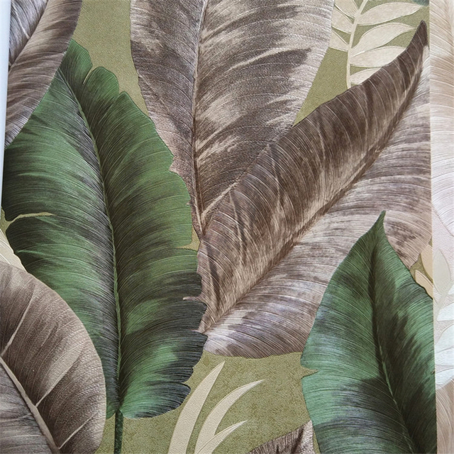 Beibehang Modern Personality Tropical Jungle Banana Leaves Wallpaper
