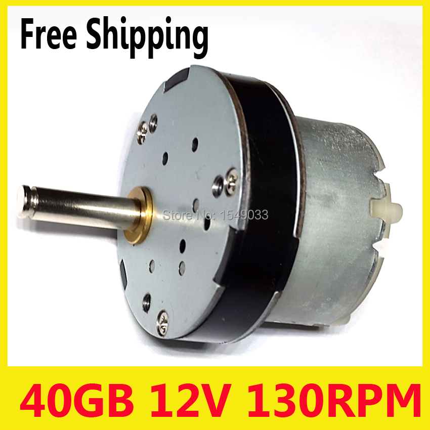 все цены на 130RPM New dc 12V motor 40mm powerful high torque gear box motor gearmotors Operating voltage dc 24v dc 6v dc 3v motor онлайн