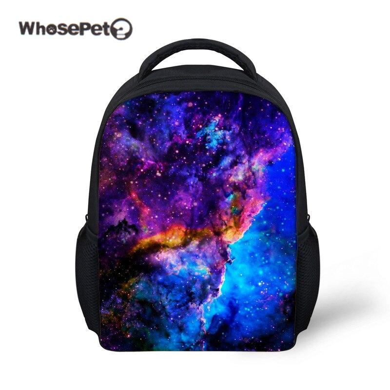 6018b2651f WHOSEPET Starry Sky 12 inch Mini Backpack Kindergarten Boys Girls School  Bag Toddler Shoulder Book Bag Galaxy Print Rucksack New