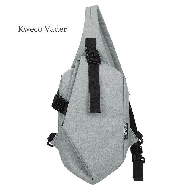 Kweco Vader męska skrzynia Oxford tkaniny torby Crossbody dla mężczyzn torba kurierska na klatkę piersiową torba na co dzień płótno krótka wycieczka pojedyncza torba na ramię