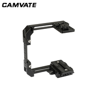 CAMVATE Adjustable Camera Half Cage Rig With Manfrotto Quick Release Baseplate C2058