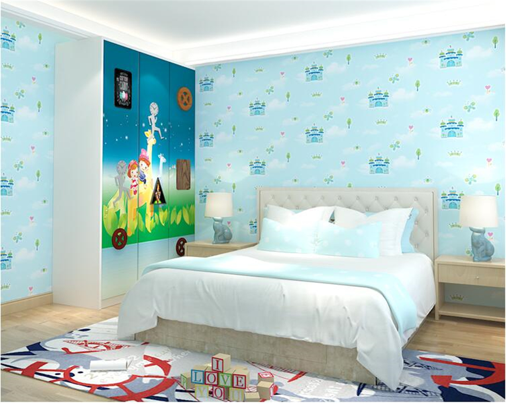 Beibehang cartoon British wind Castle Pink wallpaper childrens room boys and girls bedroom 3d wallpaper living room Wall clothBeibehang cartoon British wind Castle Pink wallpaper childrens room boys and girls bedroom 3d wallpaper living room Wall cloth