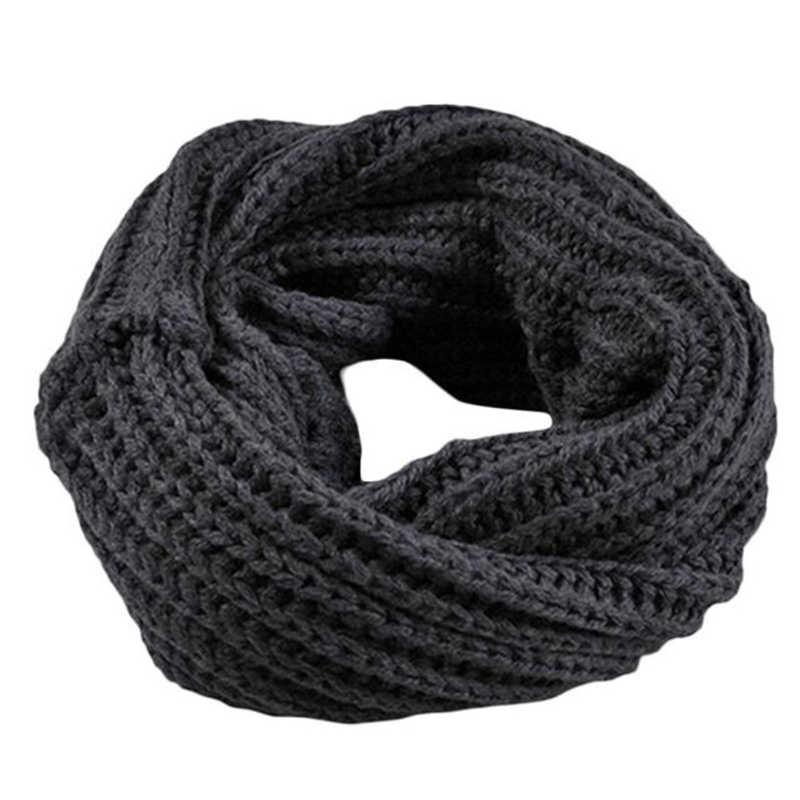 2018 New Knitted  Circle Wool Scarf Shawl Wrap Winter Warm Collar 50cm*30cm Knitted Woolen Sleeves Couple Bib Se11  40
