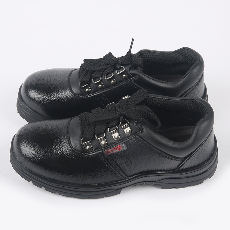 06e36211dcc AJLONGER Solid breathable anti odor safety shoes male work shoes steel toe  cap covering wear resistant oil cowhide-in Work   Safety Boots from Shoes  on ...