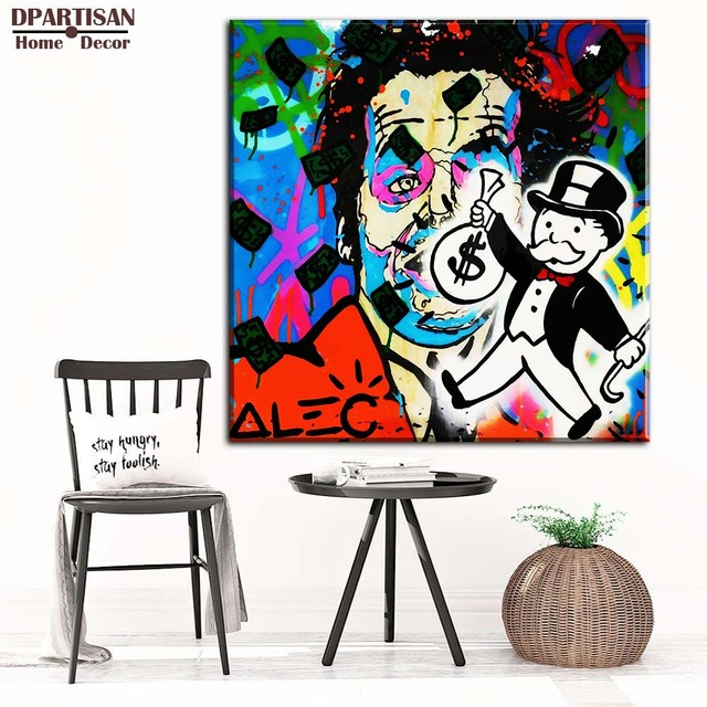 US $4 99 |DPARTISAN COOL GUYS ALEC monopoly posters painting prints on  canvas WALL ART PRINT FOR HOME DECOR WALL PICTURES NO FRAME M204-in  Painting &