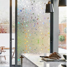 Diamond drawing gem cartoon Colors Window Cover Film Home Decor No-Glue 3D Static Decorative Window Glass Stickers 45/90cm*500cm