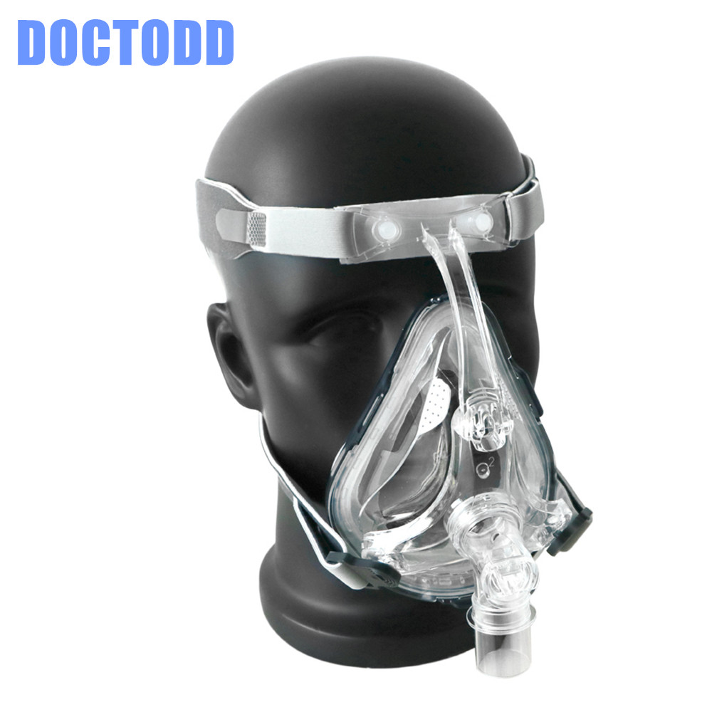 Doctodd FM1 Full Face Mask CPAP Auto CPAP BiPAP Mask With Free Headgear White S M L for Sleep Apnea OSAHS OSAS Snoring People